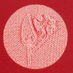 Flower and leaf knitting motif panel chart