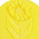 Bobbled Flower Panel Knitting Pattern