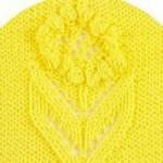Bobbled Flower Panel Knitting Pattern