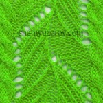 Ribbed Leaf and Cables