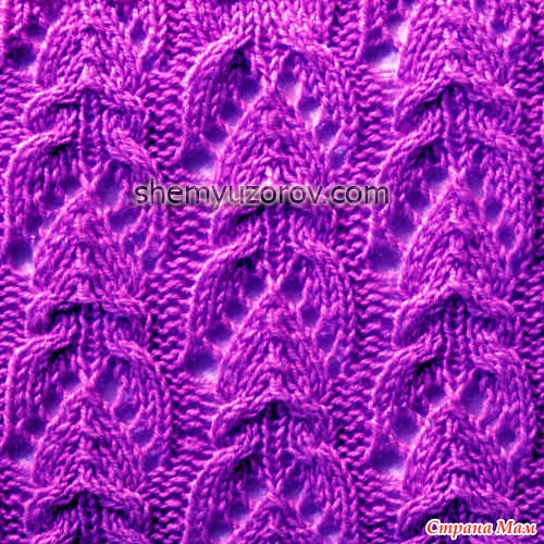 cabled lace pattern