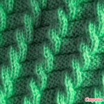 Mock Cable Effect Knitting Stitch
