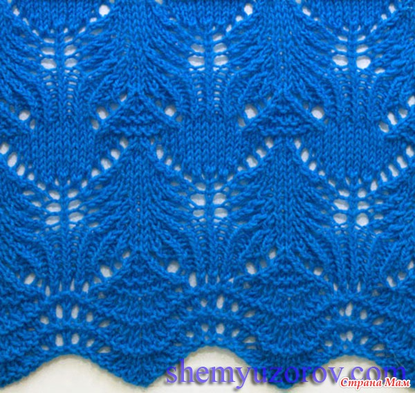 pretty lace knitting stitch 1