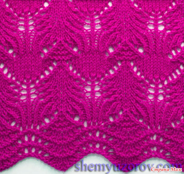 Knitting Stitches For Lace : Pretty Lace Knitting Stitch Chart - Knitting Kingdom