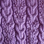 Lace and Braids Ribbed Knitting Stitch