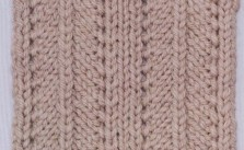Knitting Stitch Variations : Herringbone Columns Knitting Stitch - Knitting Kingdom