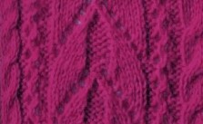 Arch and cables panel knitting stitch