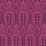 Beautiful lace panel knitting stitch