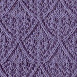 Lace diamond stitch for knitting