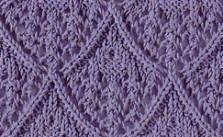 Lace diamond stitch for knitting