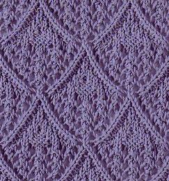 Lace diamond stitch for knitting - Knitting Kingdom