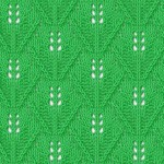 Lace triangles knitting stitch