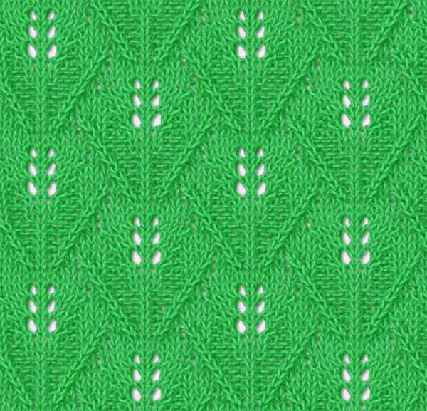 Wide Leaf Knitting Stitch - Knitting Kingdom