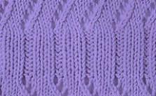Ribbed Lace Stitch with a Twist