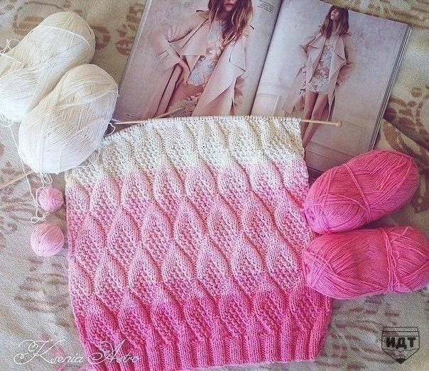 Fancy Knitting Patterns : Pink ombre fancy easy stitch - Knitting Kingdom
