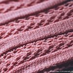 Scarf with interesting stitch ribbed