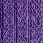 Knit and Purl Stacked Tress Stitch