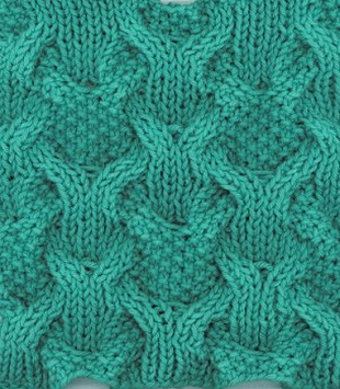 Knitting Stitches Mesh Pattern : Cable mesh knitting stitch - Knitting Kingdom