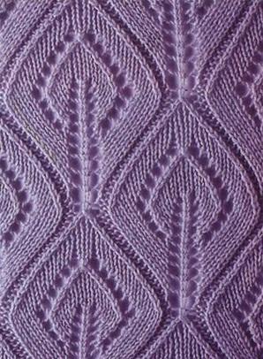Flame leaf knit stitch