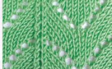 Green triangle knitting stitch