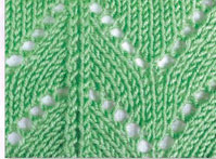 Green-triangle-knitting-stitch