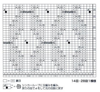 Japanese-Lace-Knitting-Stitch-with-bobble-chart