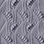 Japanese Waves, Lace and Bobbles Stitch