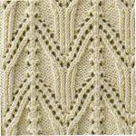 Japanese arch knitting stitch