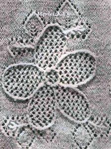Lace flower panel