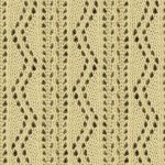 Ornate Vertical Zig Zag Lace Knitting Stitch Pattern