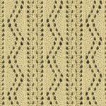 Ornate Vertical Zig Zag Lace Knitting Stitch Pattern