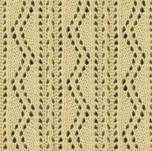 Zig Zag Knitting Stitch Pattern : Ornate Vertical Zig Zag Lace Knitting Stitch Pattern ...