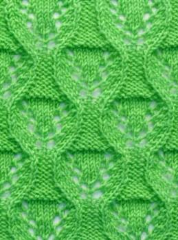 Ovaled Diamonds Free Knitting Stitch