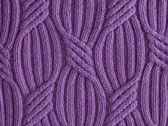 Sweeping Ribs Cabled Stitch Pattern Knitting Kingdom