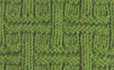 Unique Basketweave knitting pattern stitch