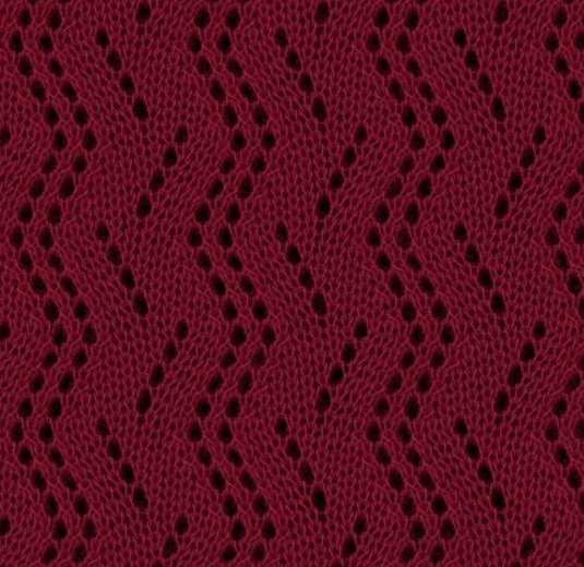 Zig Zag Knitting Stitch Pattern : Vertical Zig Zag Lace Knitting Stitch Pattern - Knitting ...