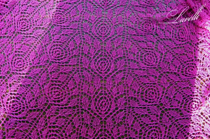 Knitting Rose Stitch : Roses lace pattern intricate knitting stitch