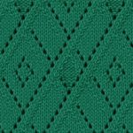 Lace argyle free knitting stitch