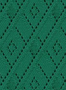 Lace argyle free knitting stitch
