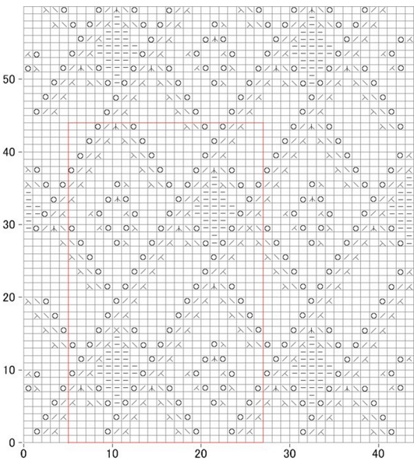 argyle free knitting stitch lace chart