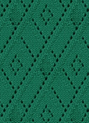 argyle free knitting stitch lace