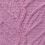 Branching leaves knitting panel