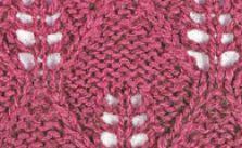Garter leaf lace stitch
