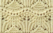 Japanese Knitting Stitch Lace and Knit into the Back