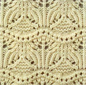 Japanese Knitting Stitch Lace And Knit Into The Back Knitting Kingdom