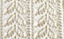 Japanese lace leaves knit stitch