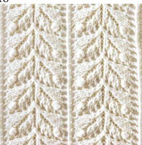 Japanese lace leaves knit stitch - Knitting Kingdom
