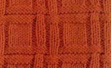 Knit and purl textured square check pattern free knitting stitch
