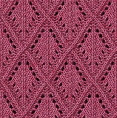 lace diamond free knitting stitch