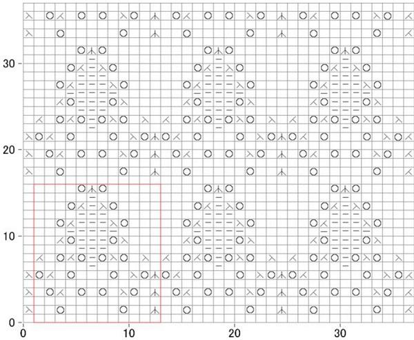 lace diamond motif free knitting pattern 1